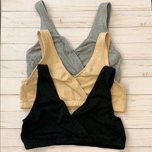 Set of three Nursing bras